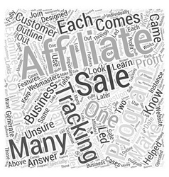Affiliate Tracking Software What It Is Word Cloud vector