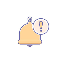 Alarm alert alram bell icon call vector