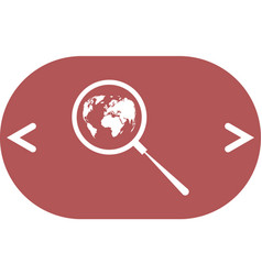 Analyzing world magnifier glass with globe vector