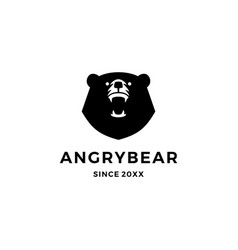 angry bear logo icon vector image
