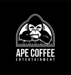 Ape coffee logo mascot vector