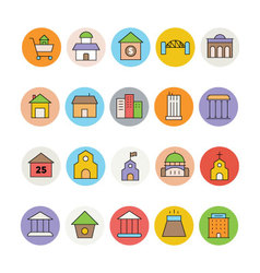 Architecture and Buildings Icons 6 vector