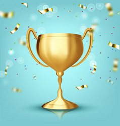 award cup champion prize winner icon vector image