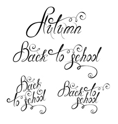 back to school calligraphy 380 vector image