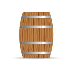 barrel icon in brown vector image