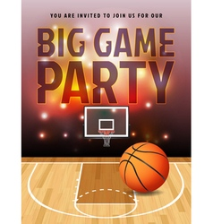 Basketball Big Game Party Flyer vector image