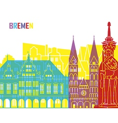 Bremen skyline pop vector