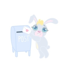 Bunny Mailing A Letter vector