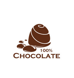 Chocolate candy sweet cocoa dessert food icon vector