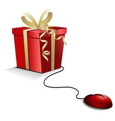 Christmas e-shopping vector