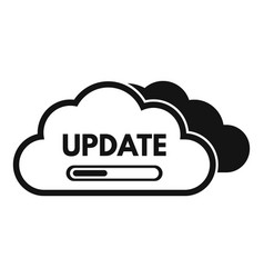 Cloud data update icon simple style vector
