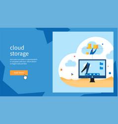 cloud storage banner vector image
