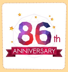 Colorful polygonal anniversary logo 2 086 vector