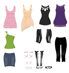 date clothes vector image