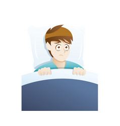 depression symptoms sleep disturbances vector image