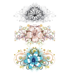 Design floral elements vector