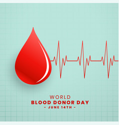 Drop red blood donor day concept background vector