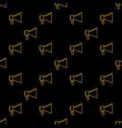 Electric megaphone seamless pattern vector