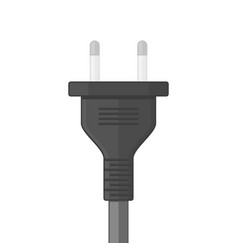 electric plug on white vector image