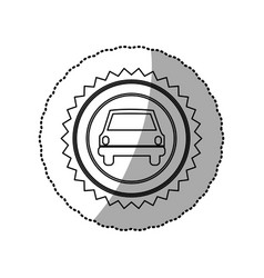 Figure star emblem front car icon vector