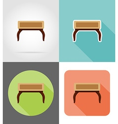 furniture flat icons 12 vector image