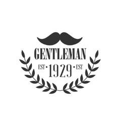 Gentleman club label design with moustache vector