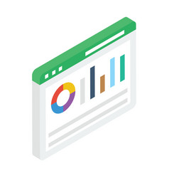 Graphical website vector