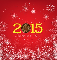 Happy new year background with snowflakes vector