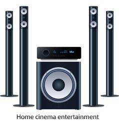 Home cinema speker system vector