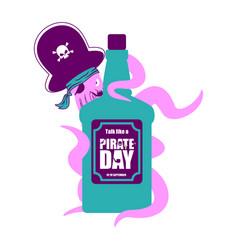 international talk like a pirate day octopus vector image