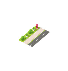 isometric left view red fire hydrant vector image