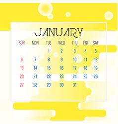 january 2019 calendar leaf vector image