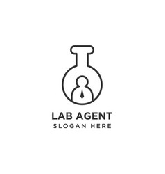 Lab agent logo design template vector