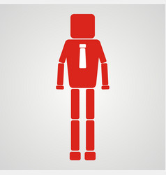 Leadership concept businessman with square head vector