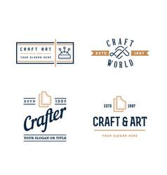 Logo design handmade diy craft tailoring and vector