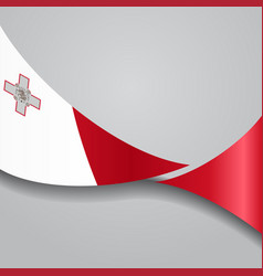 Maltese wavy flag vector