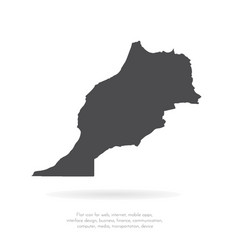 Map morocco isolated black vector