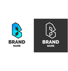 Modern logo and sign the letter b vector
