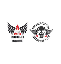 motoclub premium ride retro logo templates set vector image