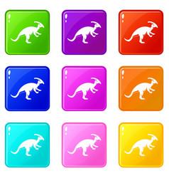 parazavrolofus icons 9 set vector image