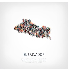 People map country El Salvador vector