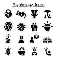 Psychology icon set vector