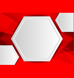 Red abstract poly background with copy space vector