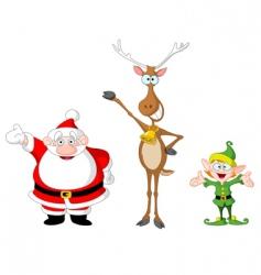 Santa rudolph elf vector image