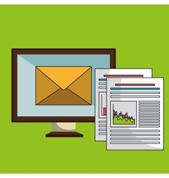Screen pc files envelope vector