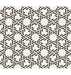 Seamless Black And White Interlacing Lines vector image