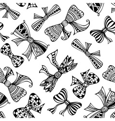 Seamless decorative pattern with bows vector