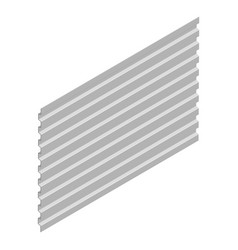 sheet steel profile in isometric vector image