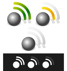 signal strenght indicators vector image