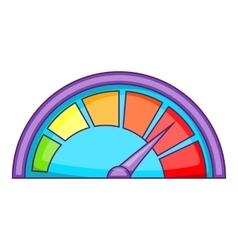 Small speedometer icon cartoon style vector image